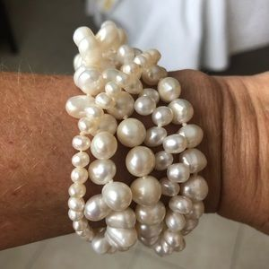 6 strand fresh water pearl bracelet
